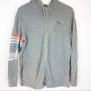 PINK Victoria's Secret Rainbow Hoodie/Sweatshirt M